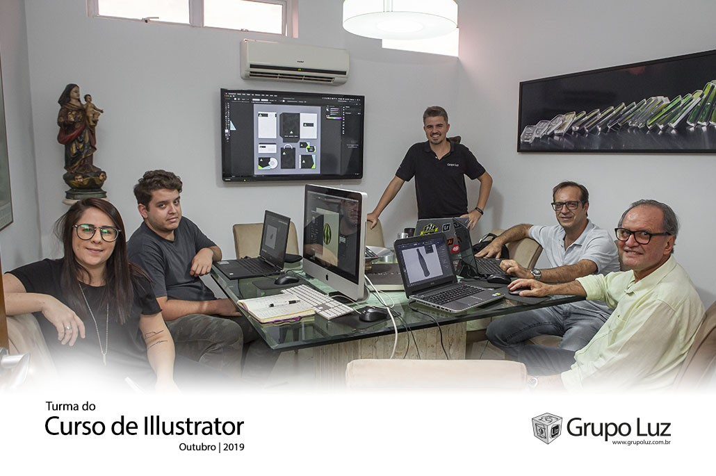 Curso de Illustrator - Turma do Curso de Illustrator Out/2019