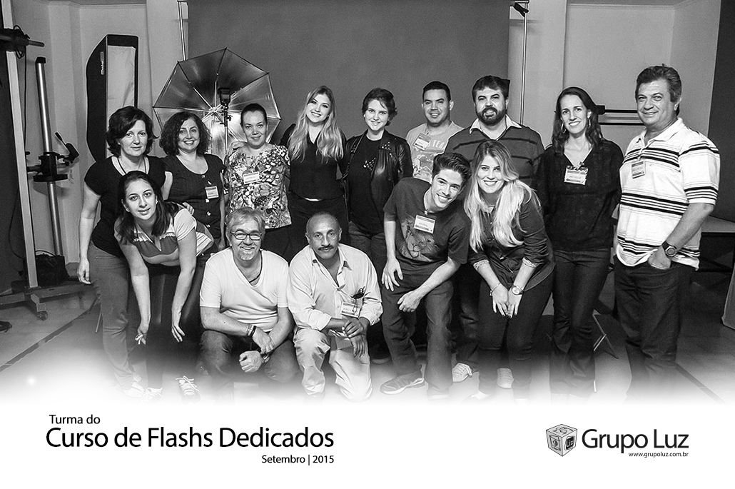 turma Fotografia de flashs dedicados 2015 - Foto da Turma do Curso de Flash Dedicado set 2015