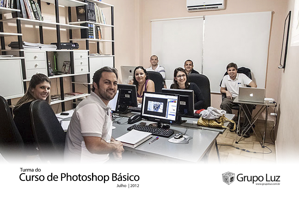 turma Photoshop Basico 2 2012 - Foto da Turma do Curso de Photoshop Básico 2012