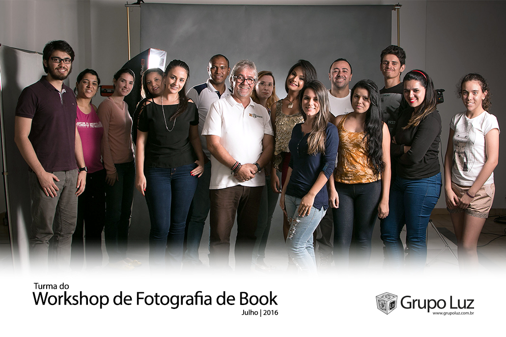 turma Workshop de Fotografia de Book 2016 - Foto da turma do Curso de Fotografia de Book 2016