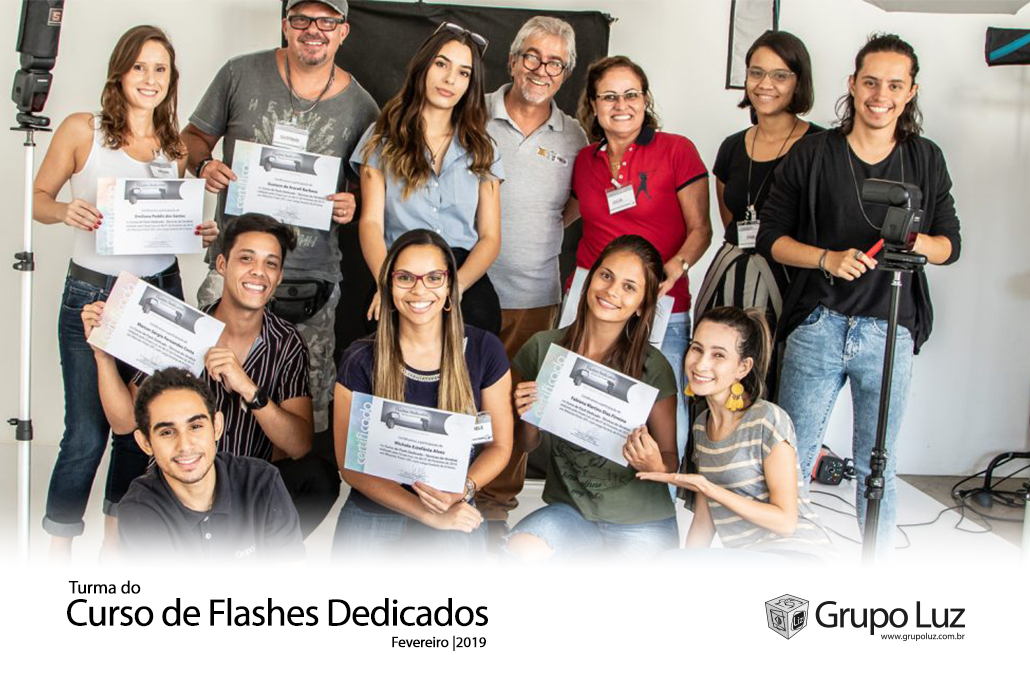 turma de Flashes Dedicados 2019 - Foto da Turma do Curso de Flashes Dedicados 2019