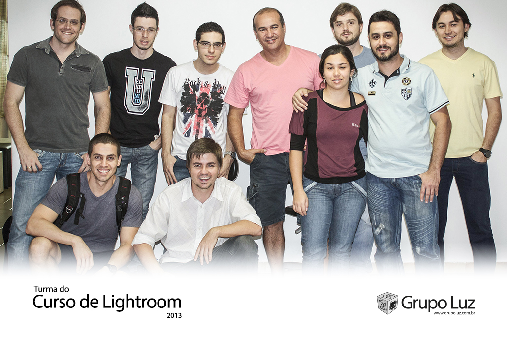 turma de Lightroom 2013 - Foto da Turma do Curso de Lightroom 2013