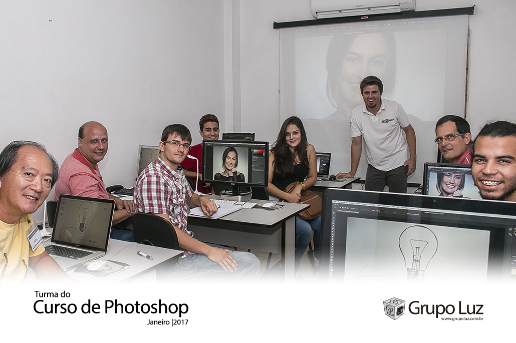 turma de Photoshop 2017 - Foto da Turma do Curso de Photoshop jan 2017