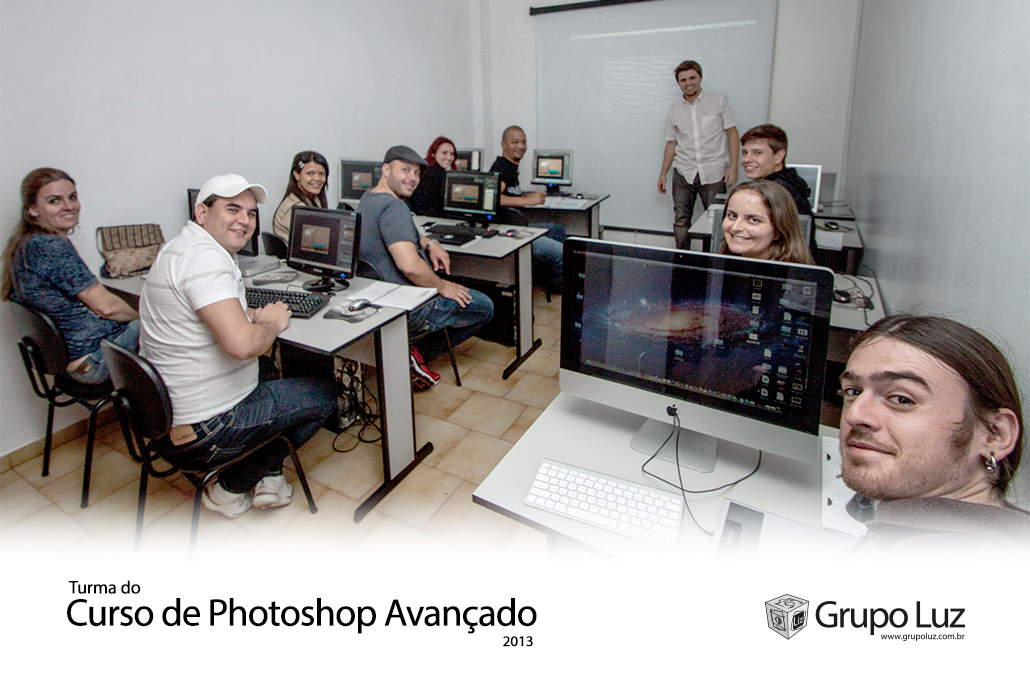 turma de Photoshop Avancado 2013 - Foto da Turma do Curso de Photoshop Avançado 2013