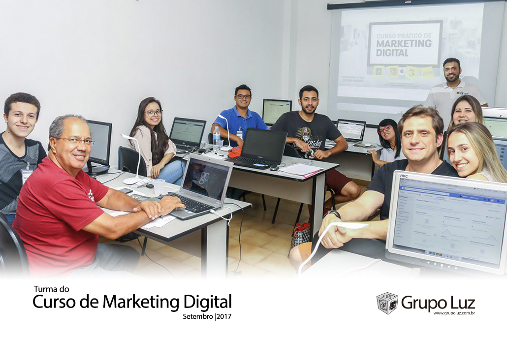 turma de marketing digital 2017 - Foto da Turma do Curso de Marketing Digital set 2017