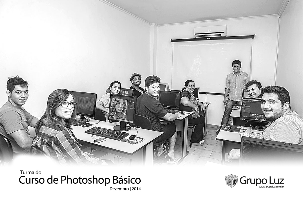 turma photoshop basico 2014 - Foto da Turma do Curso de Photoshop Básico 2014